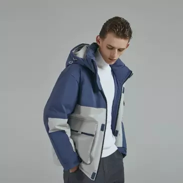 Оригинальный мужской пуховик xiaomi с капюшоном, 90 точек, 90% белый пуховик, 4 Водонепроницаемая зимняя куртка smart - 3