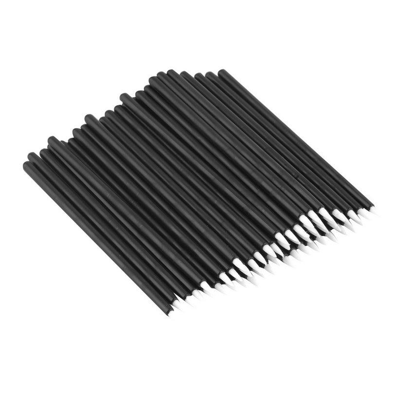 50pcs Disposable Black Fiber Eyeliner Brush In a Plastic Bag Professional Makeup Tools Eyeliner Brushes Cometic Eye Brushes