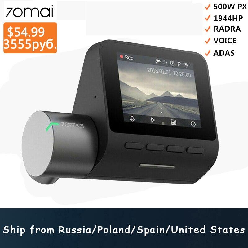 Xiaomi 70mai Pro Dash Cam 1944P GPS ADAS voiture caméra Dvr 70 mai Pro Dashcam commande vocale 24H Parking moniteur WIFI véhicule caméra