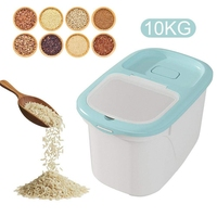 Rice Storage Container  10KG/22Lbs Airtight Rice Sealed Box with BPA Free Plastic and Insert-Proof Box  Dry Food Storage Contain