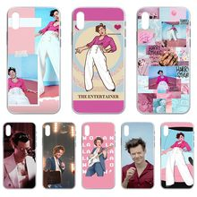 Fine ligne Harry Edward Styles Etui Transparent étui de téléphone pour iphone 4 4S 5 5C 5S 6 6S PLUS 7 8 X XR XS 11 PRO SE 2020 MAX(China)