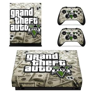 Image 3 - Grand Theft Auto V GTA 5 Game Cover Skin Console & Controller Decal Stickers for Xbox One X Skin Stickers Vinyl