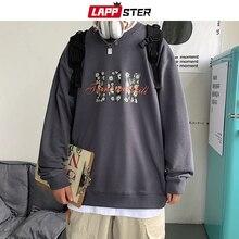 Streetwear Hoodie LAPPSTER Korean Fashions Sweatshirts Oversized Autumn Man Daisy-Letter