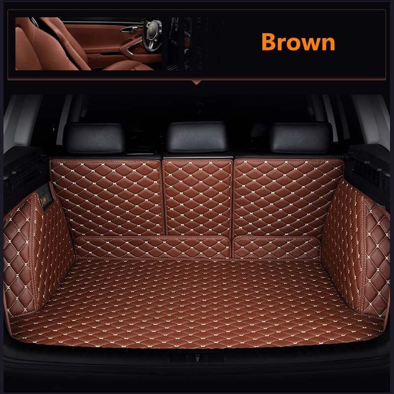 Bagagliaio di un'auto in pelle mat cargo liner per toyota rav4 2019 2020 2021 xa50 accessori tappeto tappeto di avvio auto interni
