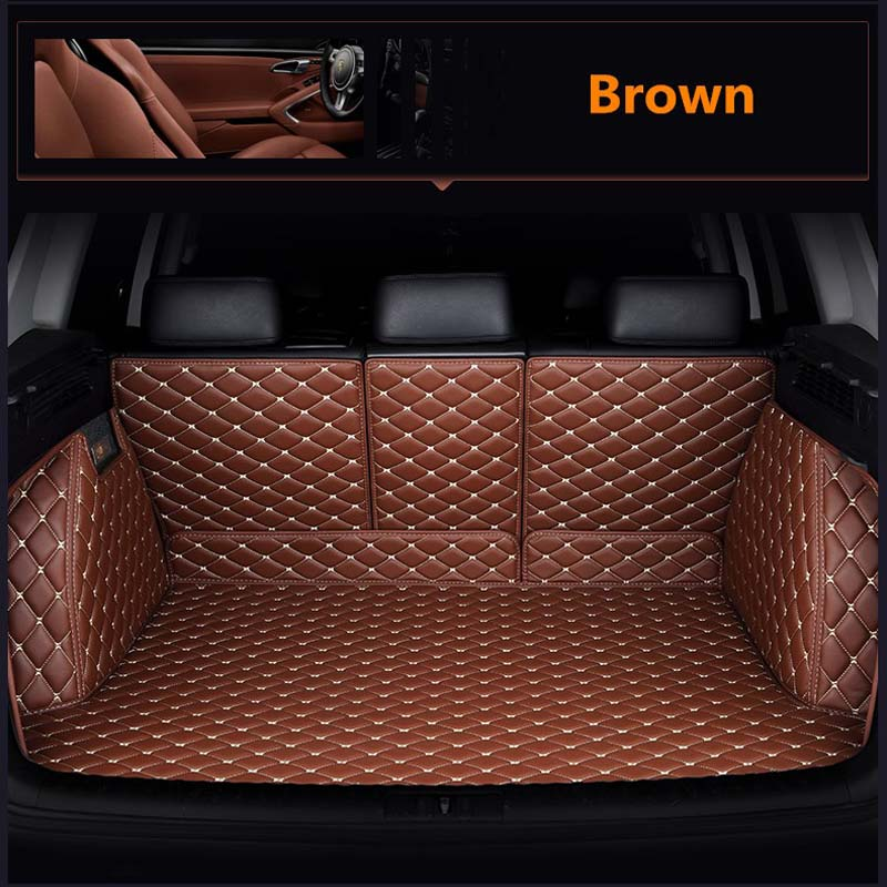 leather car trunk mat cargo liner for toyota rav4 2019 2020 2021 xa50 accessories rug carpet boot auto interior