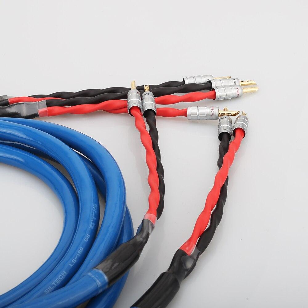 Cable de altavoz chapado en plata y cobre LS-180 con conector Banana chapado en oro CMC cable de altavoz hifi - 4