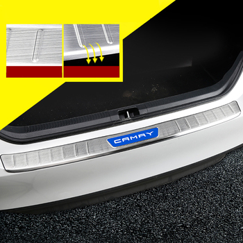 Lsrtw2017 Stainless Steel Car Trunk Rear Door Sill Threshold Cover Trims for Toyota Camry XV70 2018 2019 2020 Accessories