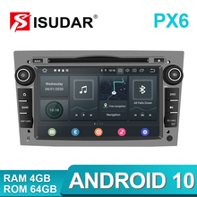 Isudar PX6 2 Din Android 10 Car Multimedia Player GPS DVD For OPEL/ASTRA/Zafira/Combo/Corsa/Antara/Vivaro Auto Radio FM DSP DVR