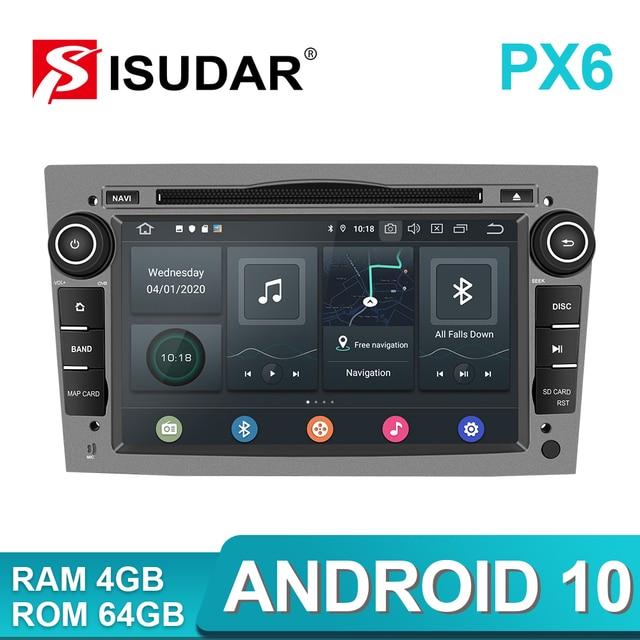 Isudar PX6 2 Din Android 10 Car Multimedia Player GPS DVD For OPEL/ASTRA/Zafira/Combo/Corsa/Antara/Vivaro Auto Radio FM DSP DVR