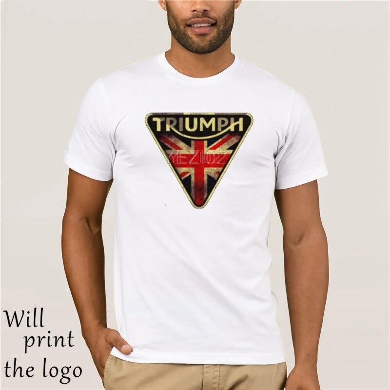Divertente Uomo T Shirt Triumph T-Shirt Da Uomo In Cotone Bianco T-shirt Magliette Tee Nero Mtss15001 MAGLIETTA Del Cotone