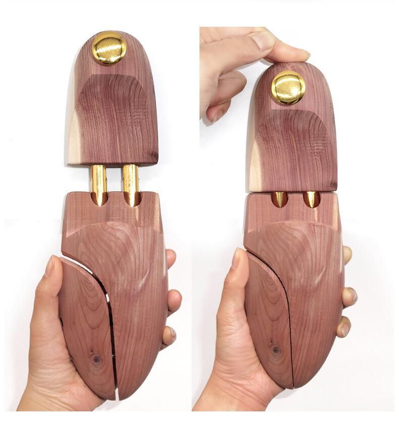 Mens Cedar Wood Shoe Tree Shaper Adjustable Width Stretcher