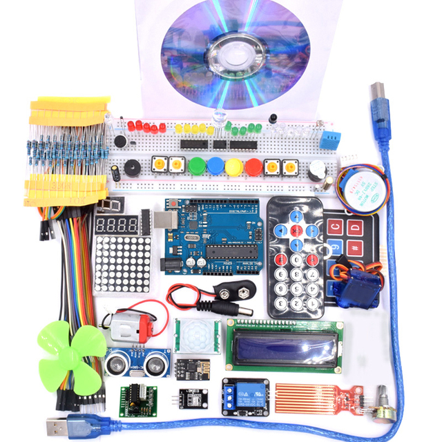 Super  R3 Project Complete Starter Kit with Lesson CD , R3 board, Jumper Wire, for Arduino
