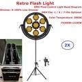 2xlot Flightcase Pack Stage Strobe Lights 7X300W галогенная лампа ретро вспышка Шестигранная или круглая опционально 1/6/7 DMX каналы