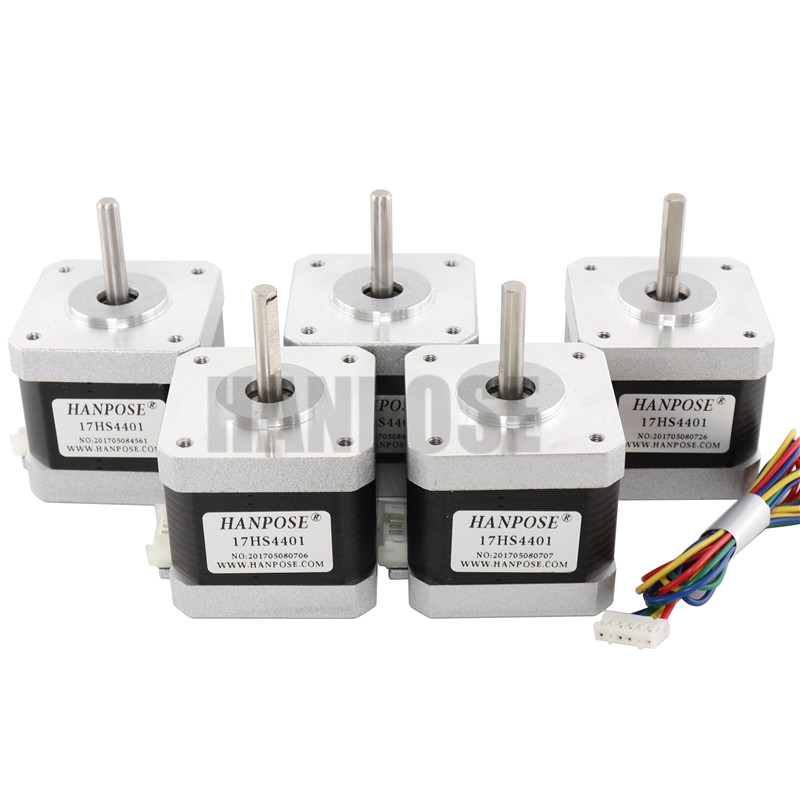 3PCS 4-lead Nema17 Stepper Motor 42 motor NEMA 17 motor 42BYGH 1.7A (17HS4401) use for 3D printer and CNC