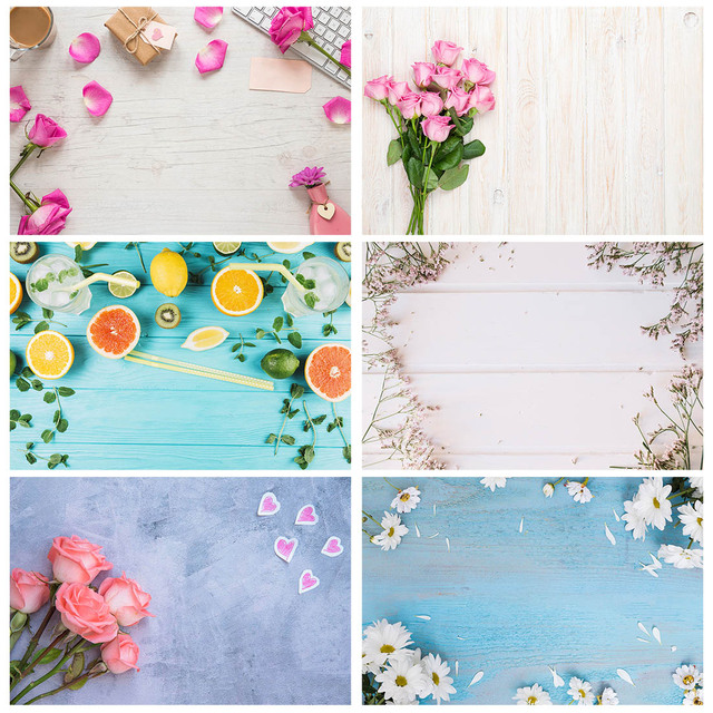 Pink Flower Petals Gift Keyboard Photo Backgrounds Vinyl Cloth Backdrop for Children Lovers Valentines Day Wedding Photophone