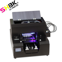 SHBK A4 Multifunction Laser uv Printers Inkjet T Shirt Printing Machine A4 Size 6 colors Separate ink sac free shipping