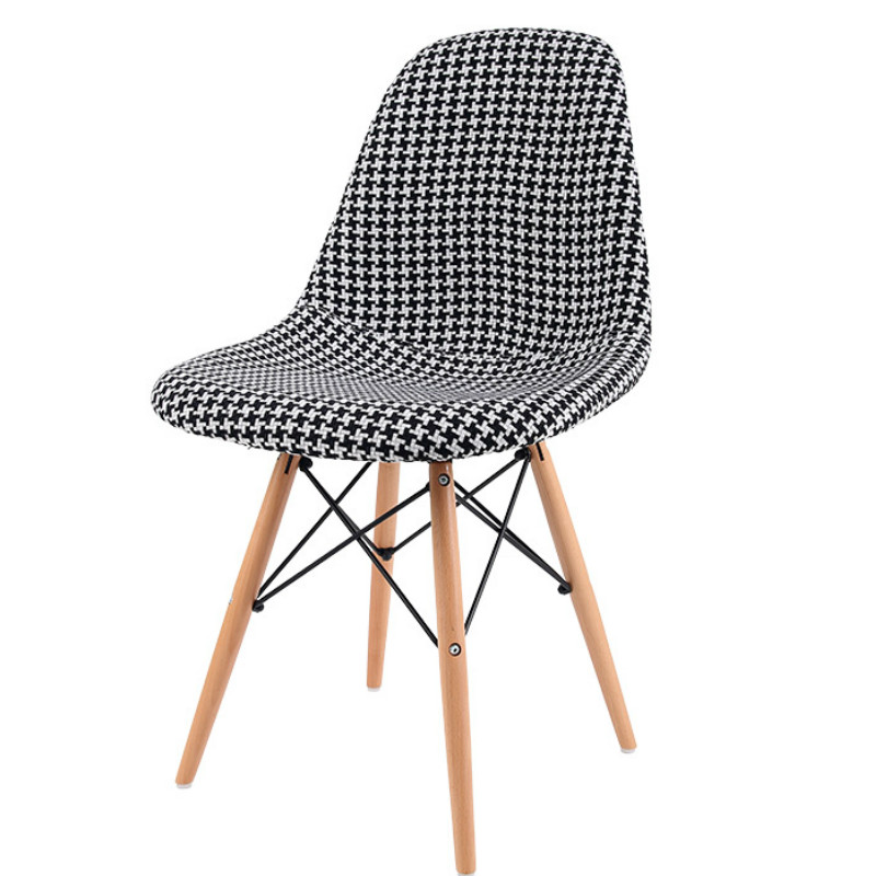 Nordic dining chair solid wooden chair adult chair simple modern computer chair study home armchair