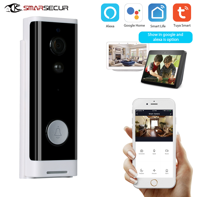 1080P Tuya Smart Wifi Doorbell Camera Ring Door Bell App Intercom Motion Detector Night Vision Security Camera