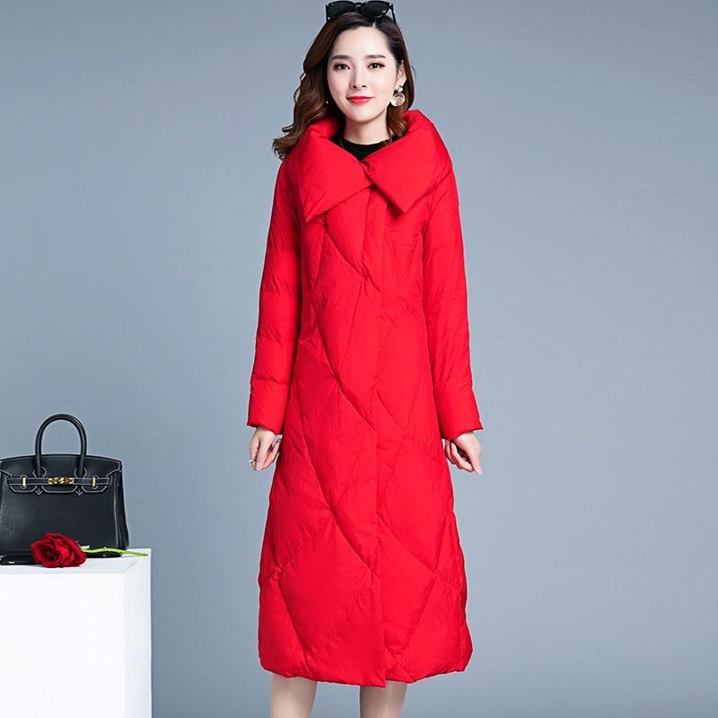 Winter Down Jacket Women 90% Duck Down Coats Female Korean Fashion Long Down Parka Jackets Thick Warm Clothes LWL1337