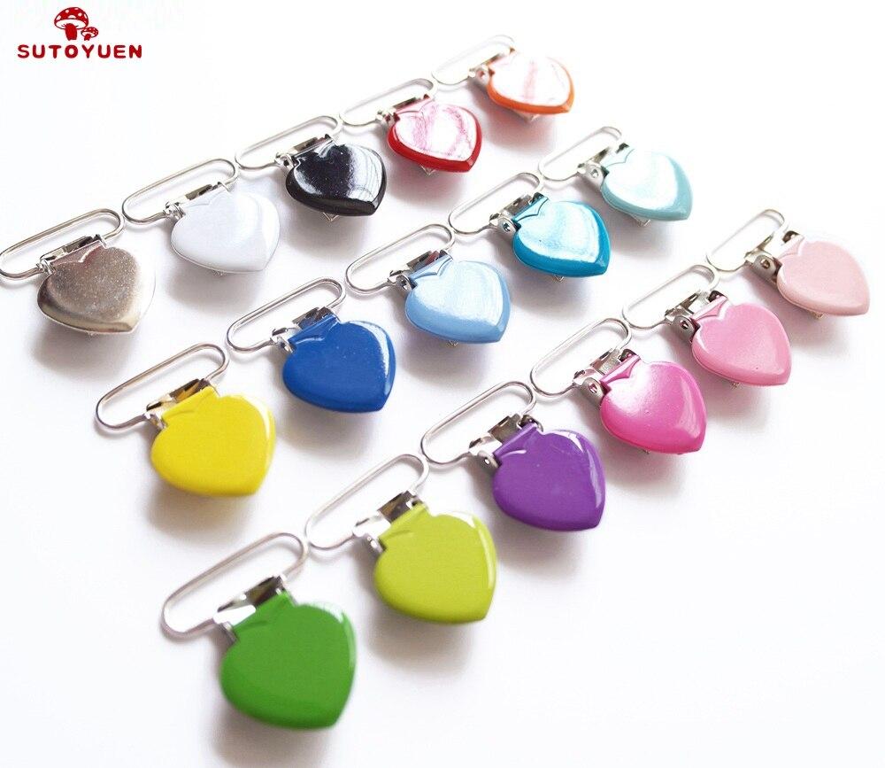 25 25mm 16 cores esmalte coração forma