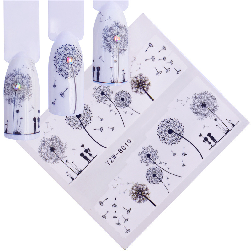 Nail Sticker AliExpress Hot Selling Dandelion Adorable Rabbit Love Stickers Nail Stickers YZW-B48-