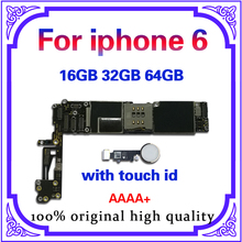Full unlocked for iphone 6 Motherboard With/Without Touch ID,Original for iphone 6G Mainboard with Full Chips,16GB 32G 64G international language original n7100 mainboard chips logic 16gb for samsung galaxy note 2 motherboard