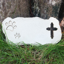 All Blanks Customize Pet Garden Memorial Stone Cross shape  Dog Or Cat Garden Stone for Loved Pet Pet Grave Headstone Tombstone heart shape blanks wooden blanks heart pattern diy cross stitch