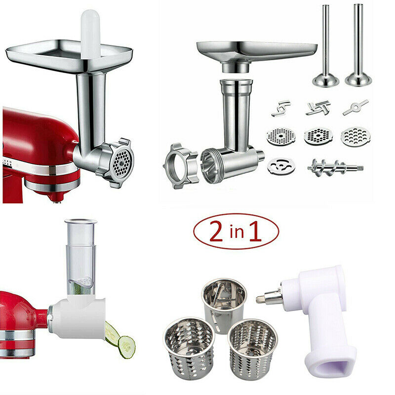Food Grinder Attachment Slicer And Shredder Meat Stuffer For KitchenAid Stand Mixer Accessories