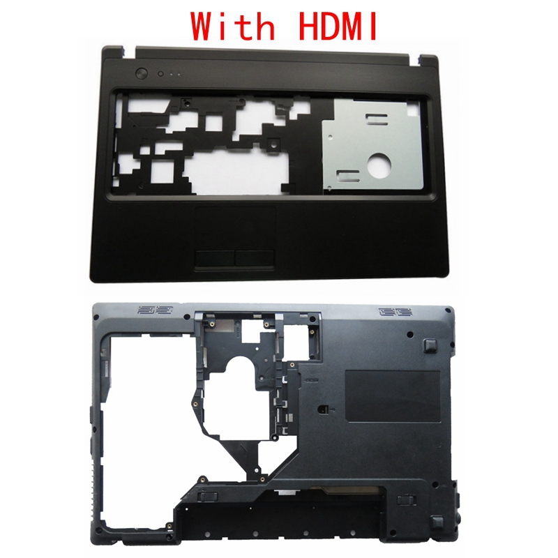 New SHELL For Lenovo G570 G575 G575GX G575AX Bottom Case Cover & Palmrest Cover Upper Case With HDMI