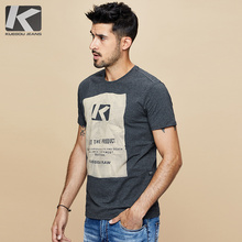 Kuegou Brand Men's short sleeve tshirt man Round neck T shirt Summer men's clothing of cultivate one's morality MT-1642