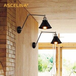 Image 5 - Lâmpada de parede industrial ajustável, para quarto, iluminação retrô