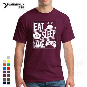 Nuevo juego de Eat Sleep Camiseta con estampado de repetición camiseta de moda para jugadores fansT Camisa de verano de algodón de manga corta Camisetas de Hip Hop
