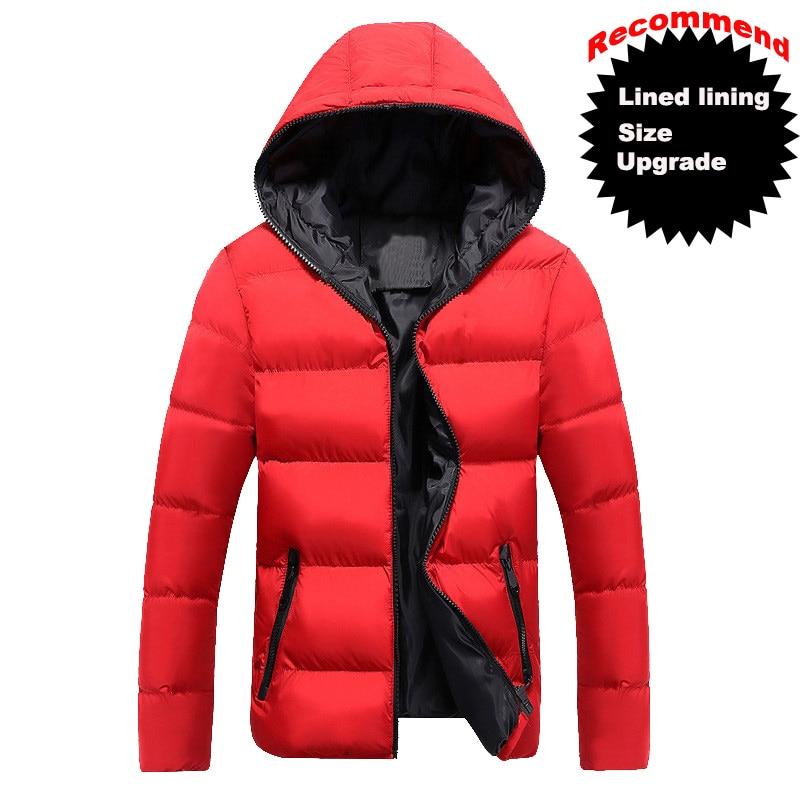 Candy Color Men's Parkas Hooded Coat Men Parka Jacket Men's 2019 Clothes And Coats Fot Male Cotton Autumn And Winter Clothing