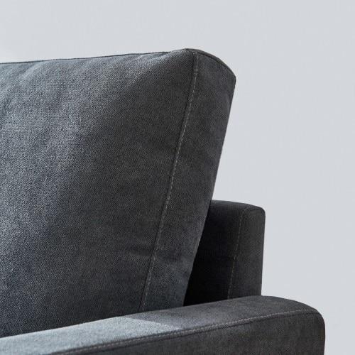 Modern fabric sofa L shape, 3 seater with ottoman-104 5