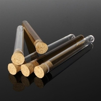 100Pcs/Pack 20Ml Transparent Plastic Test Tubes with Corks Stoppers Laboratory School Educational Suppy 150X16Mm