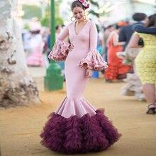 Длинное платье для выпускного вечера eightree русалки с v образным
