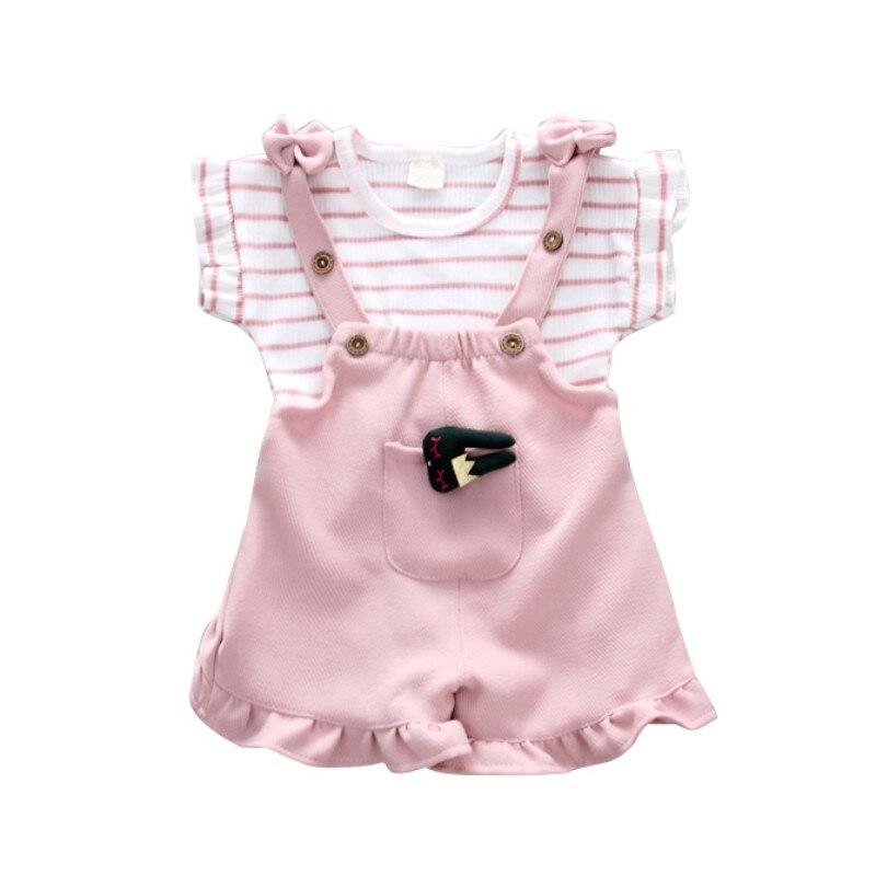 Купить комплект летней одежды для девочек; футболка одежда малышей;