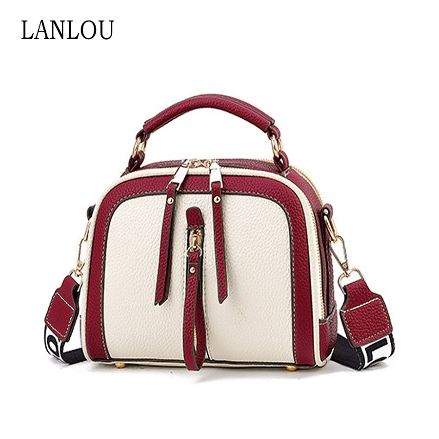 LAN LOU Women Bag Shoulder Bags For Women 2019 Brand Famous Bag Leather Woman Handbag Luxury New Crossbody Bags Ladies For Women