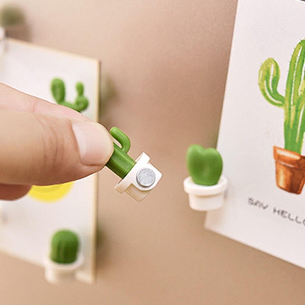 6 шт./компл. магниты на холодильник милое растение суккулент магнит кнопка кактус на холодильник, для заметок наклейка Magn домашний декор для ...