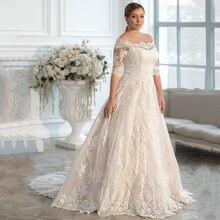 Скромные размера плюс трапециевидной формы свадебные платья