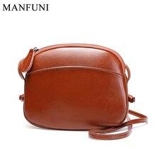 Fashion Women Messenger Bag Genuine Leather Soft Skin Shell Handbag Elegant Brown Shoulder Crossbody Bag Purse Lady Phone Bags