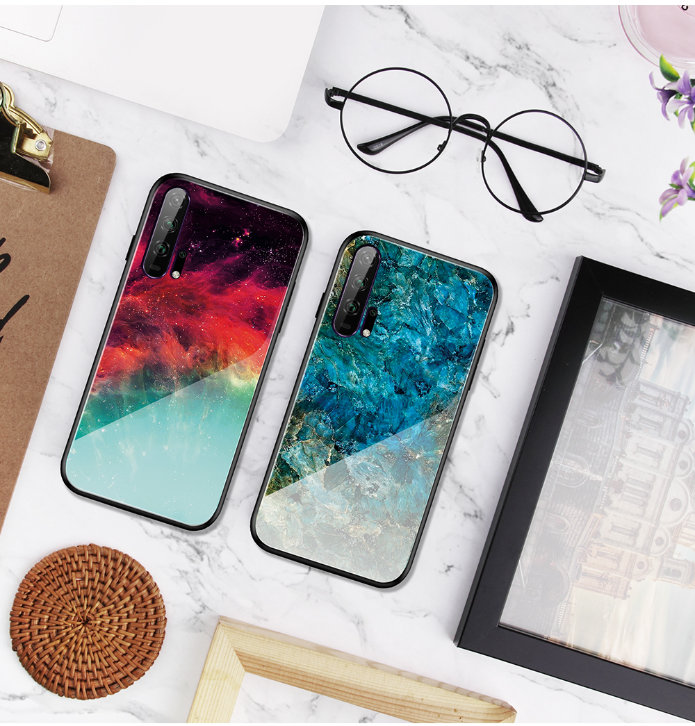 H3006cb0d66c84cd2a62c7c8d901062ad1 Phone Case for Huawei Honor 20s 20 Case Marble Tempered Glass Soft Tpu Frame Back Case for Huawei Honor 20s Honor 20 Pro Case