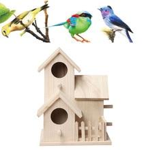 1 шт. Гнездо Дом Птица Dox деревянный Птичий дом гнездо дом деревянный Птичий дом Креативный настенный открытый скворечник деревянный ящик