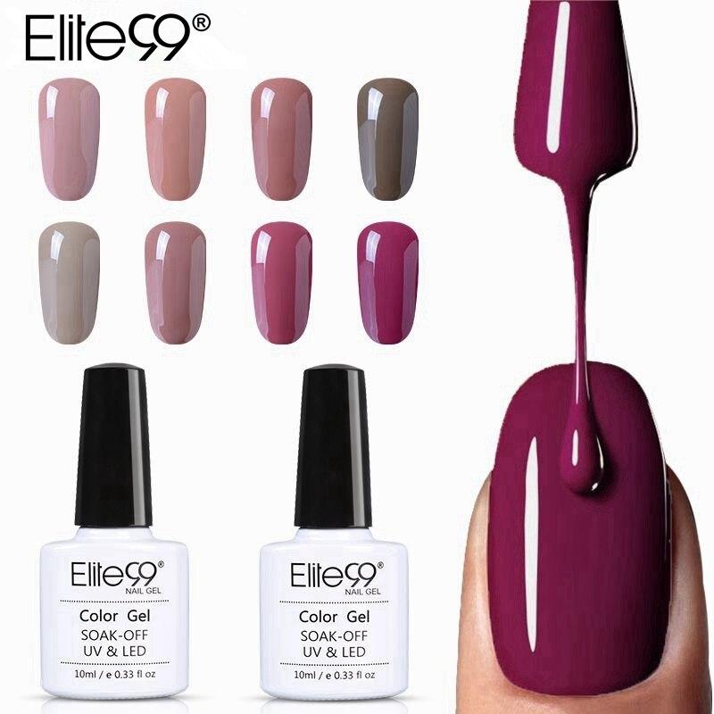 Elite99 10 мл чистый цветной Гель лак УФ светодиодный великолепный телесный Светодиодный УФ гель лампа дизайн ногтей горячая Распродажа Гель лак для ногтей Гель для ногтей      АлиЭкспресс