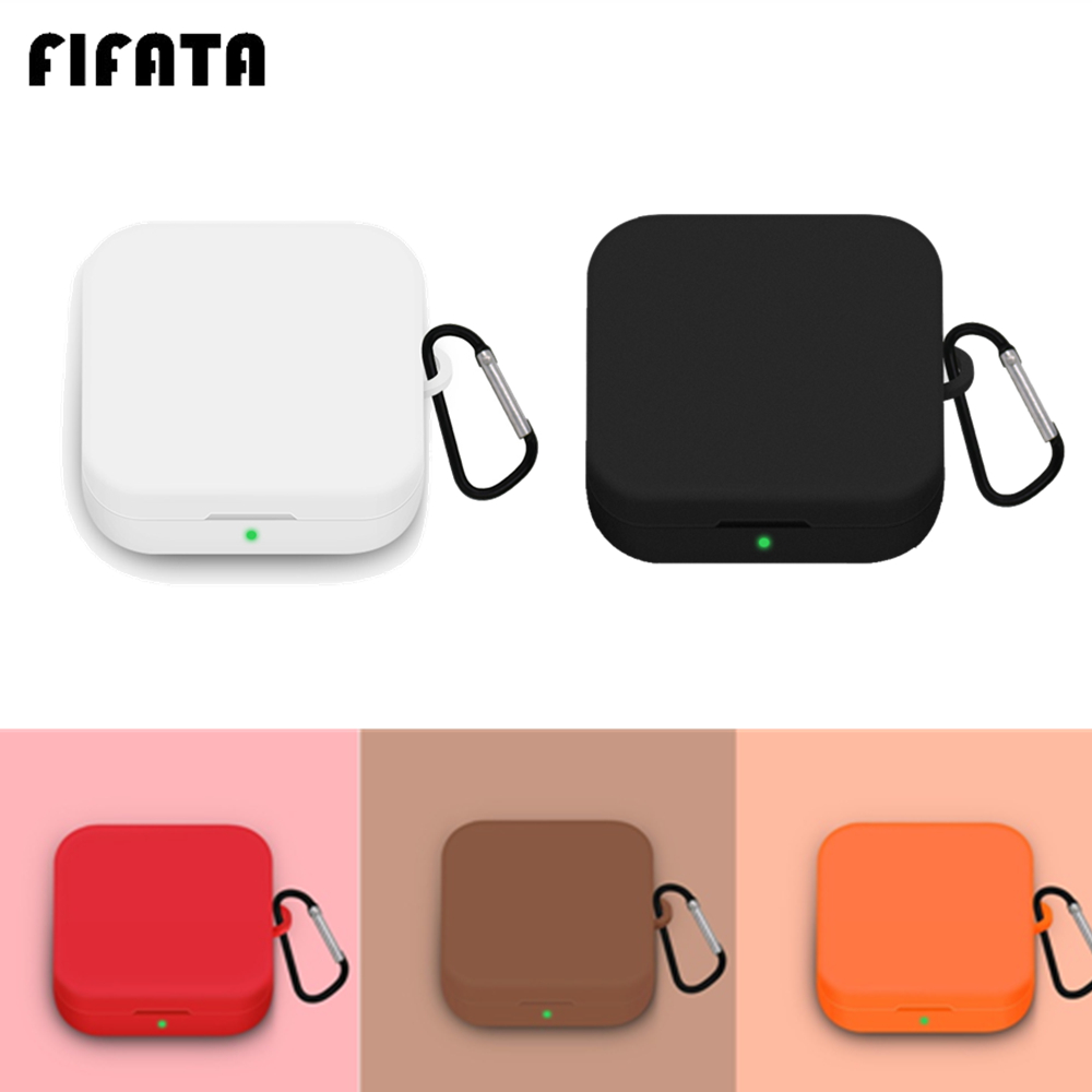 Housse en Silicone FIFATA pour Xiaomi Airdots Pro 2 SE coque de protection pour écouteurs avec crochet pour Xiaomi Mi Air 2 SE