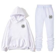 2021 2 peças conjunto moletom + moletom com zíper hoodie dos homens roupas casuais ropa hombre tamanho S-3XL