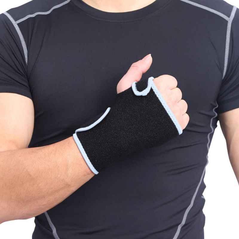 Nadgarstek Bracer nadgarstka wsparcie paski okłady oddychające regulowany wkładka stali nierdzewnej szyna siłownia treningu Fitness podnoszenie ciężarów mężczyźni kobiety