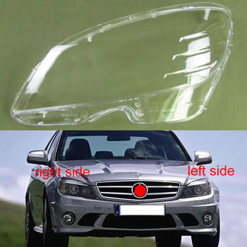Front Lampshade Lamp Shell Headlamps Cover Headlight Shell For 2007-2010 Benz C Class W204 C180 C200 C220 C250 C280 C300