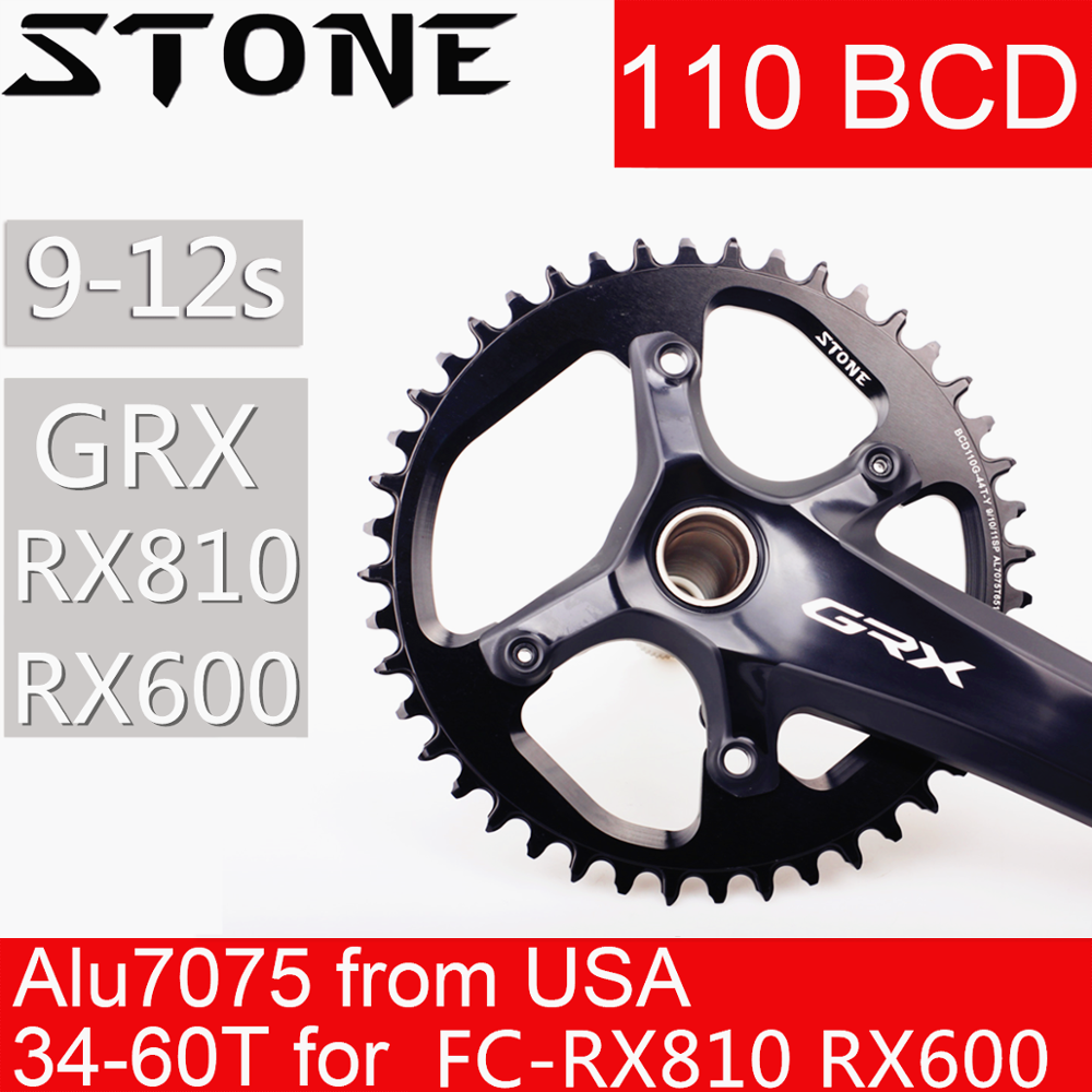Stone Chainring 110 BCD For Shimano Gravel GRX FC RX810 RX600 34 36 38 40 42 44 46 48 58T 60T Tooth Road Bike Chainwheel 110bcd