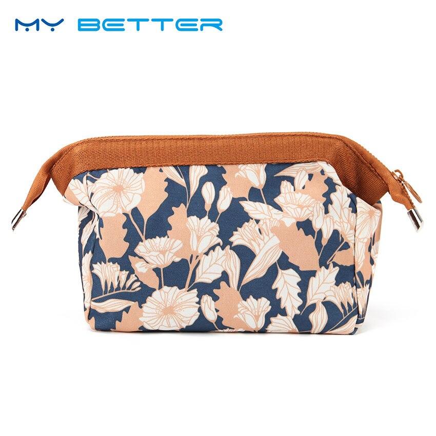 Hot Sale Flamingo Cosmetic Bag Women Necessaire Floral Printed Makeup Bag Travel Waterproof Portable Makeup Bag Toiletry Kits